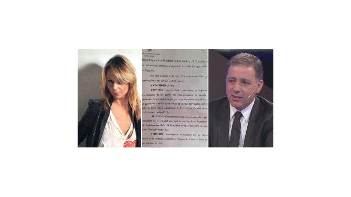 Evelyn Von Brocke y Fabián Doman firmaron el divorcio esta mañana