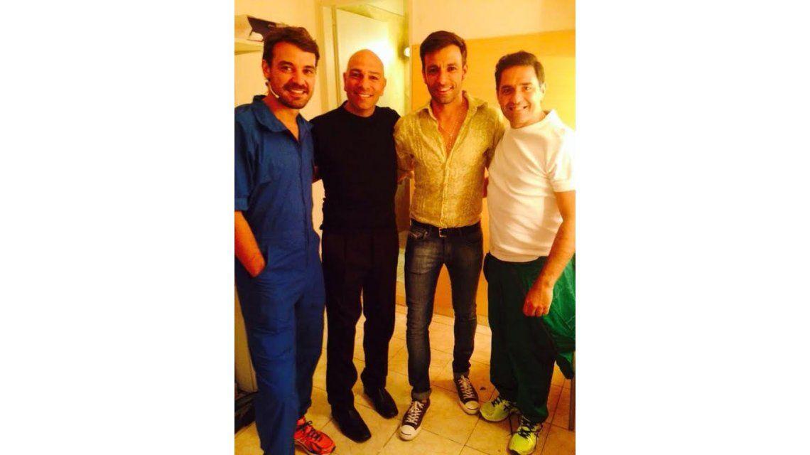 Martín Bossi, Pedro Alfonso y Mariano Iúdica juntos en Carlos Paz