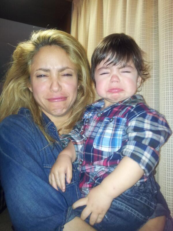 La tierna y divertida foto de Shakira y su hijo Milan en el Twitter de Piqué
