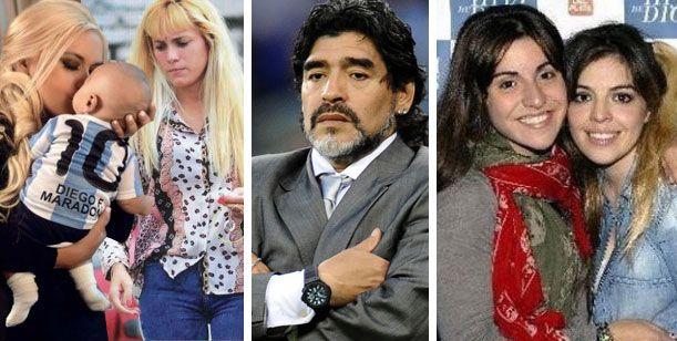 Maradona: entre Buenos Aires y Dubai; un hijo; dos mujeres; la Dalma y la Gianinna