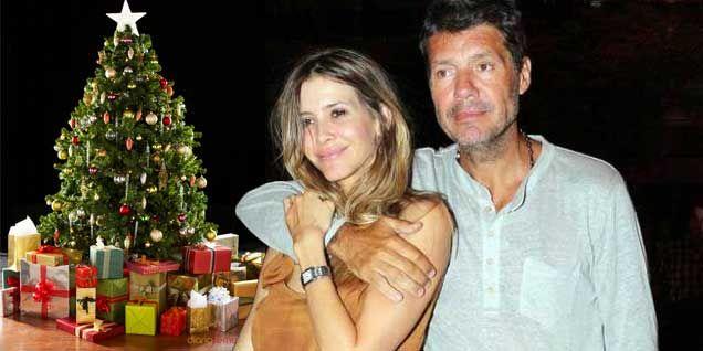 La navidad de Marcelo Tinelli y Guillermina Valdes, en Buenos Aires y con sus hijos