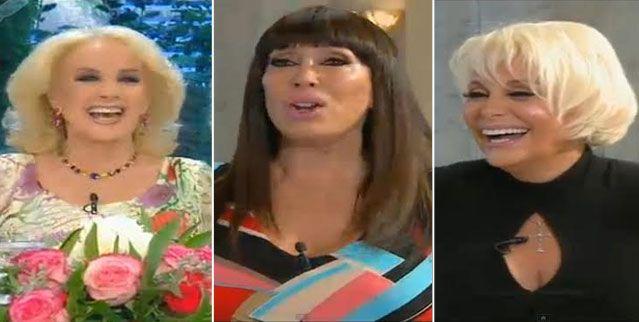Reconciliación en vivo: Mirtha, Moria y Carmen en el último programa del año