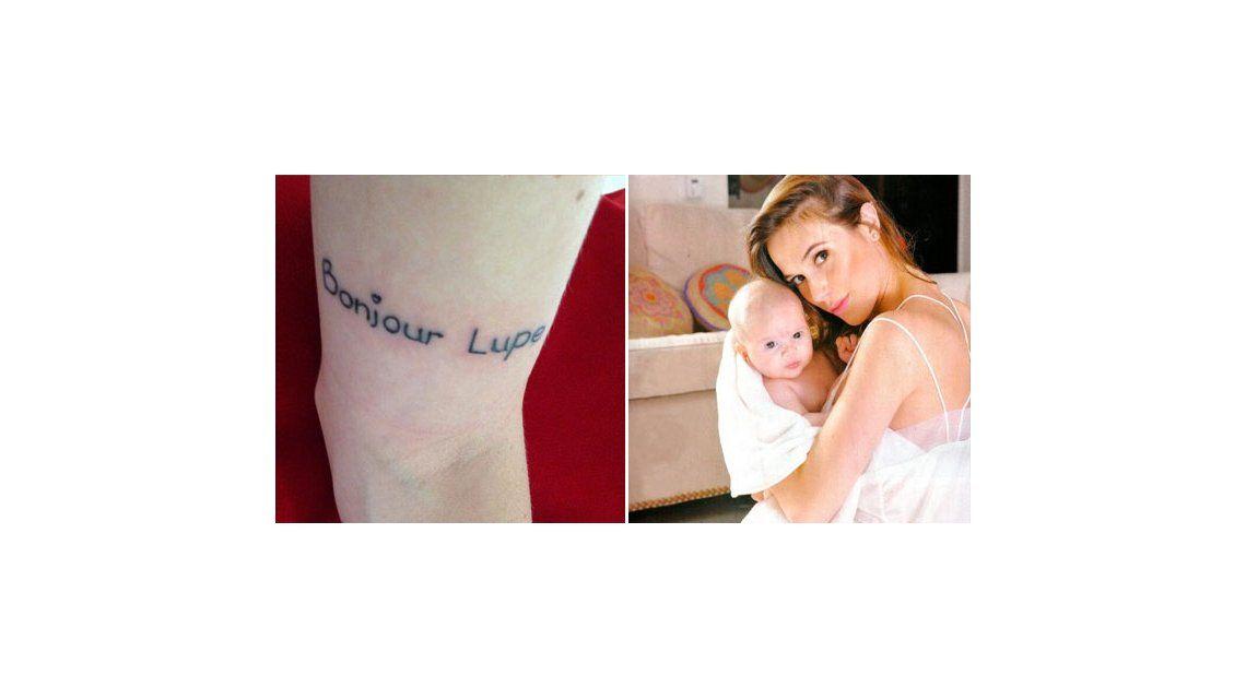 Chechu Bonelli se tatuó el nombre de Lupe, su hija con Darío Cvitanich