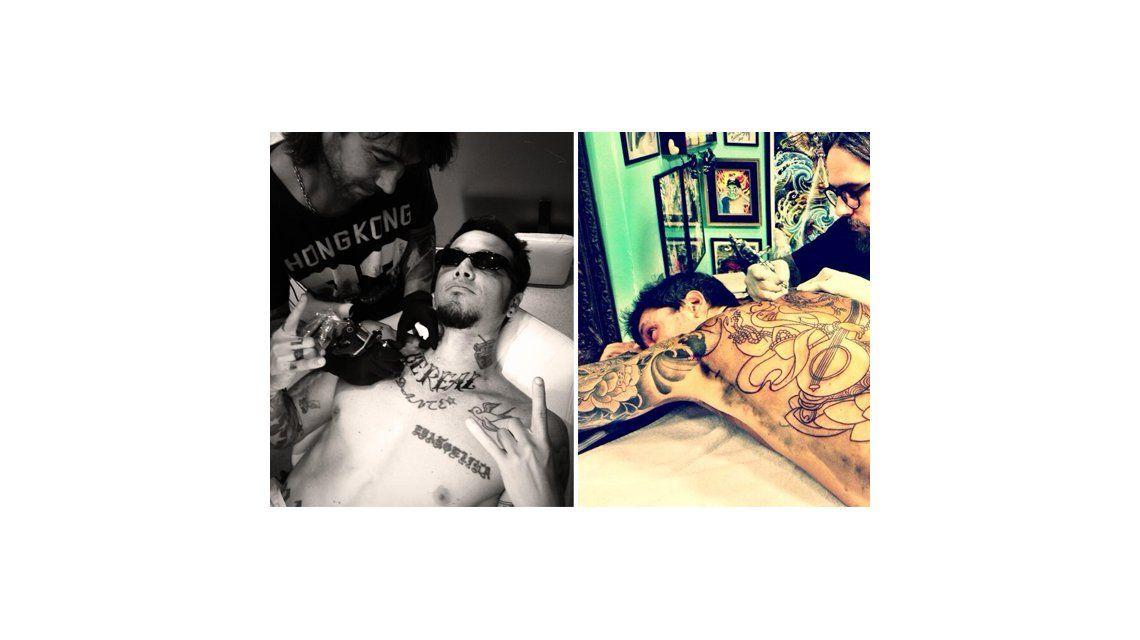 Se siguen: después del súper tatoo de Tinelli ahora Ortega se hizo uno nuevo