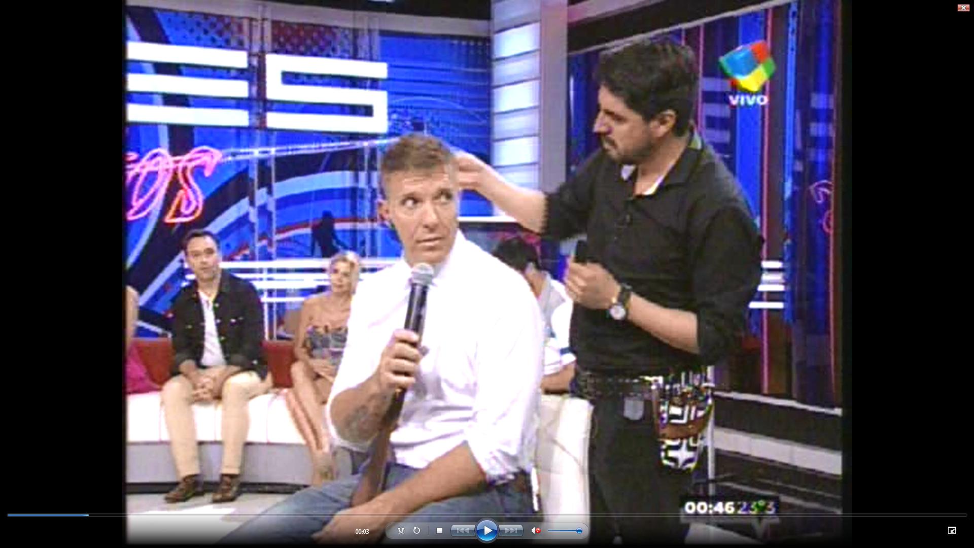 Alejandro Fantino se cortó el pelo con picos de rating en la noche de América
