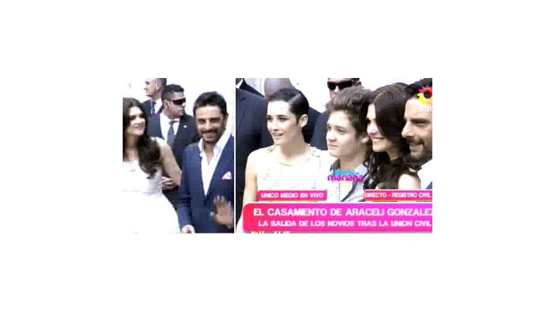 Araceli González y Mazzei se casaron por Civil: Mi vida sin Fabián sería un horror