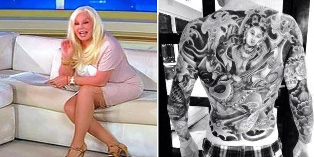 Susana Giménez: Estoy indignada porque se tatuó la espalda, parece un lagarto