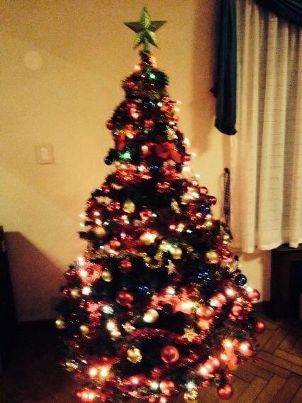 Los preparativos del árbol de navidad de Mariano Iúdica y su familia
