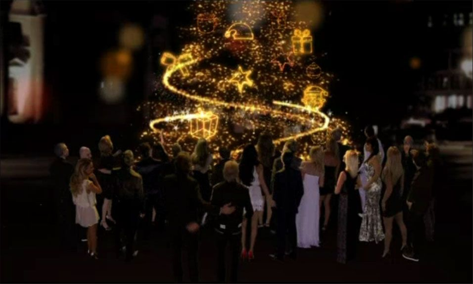 El saludo de Navidad de canal 9 con todas sus figuras y el espiritu de Romay