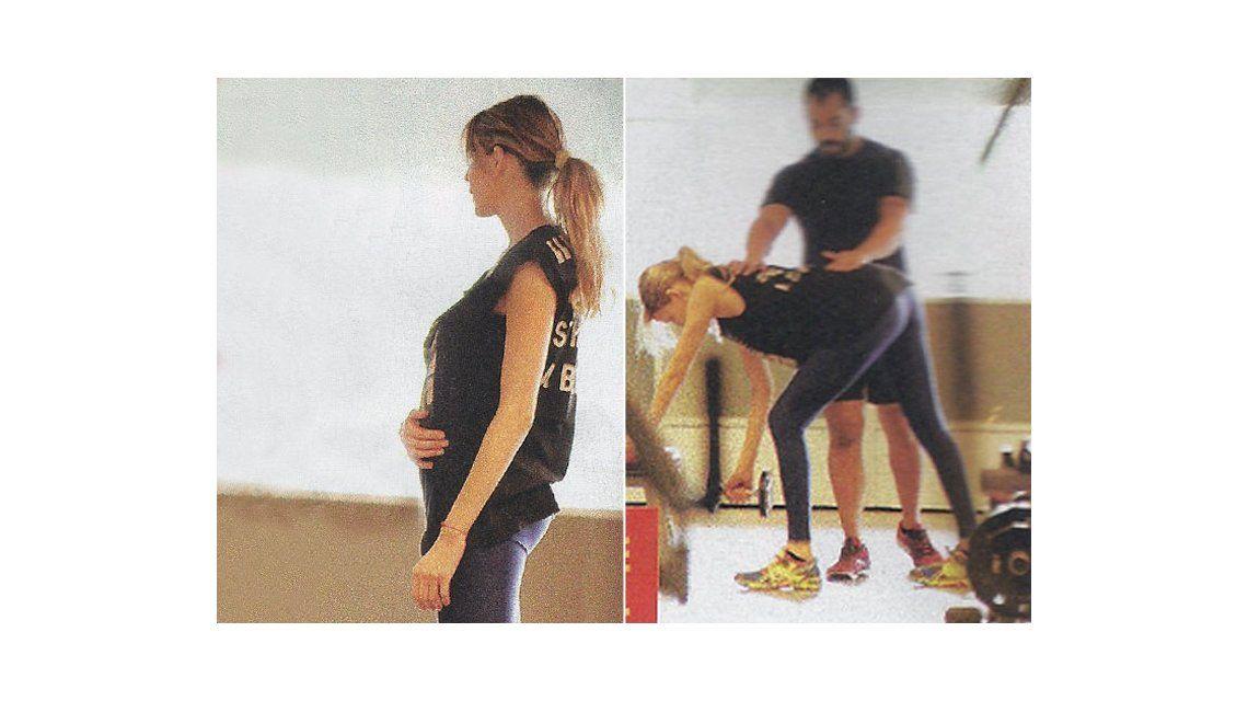 Muestra la pancita: Guillermina Valdes hace gimnasia para embarazadas