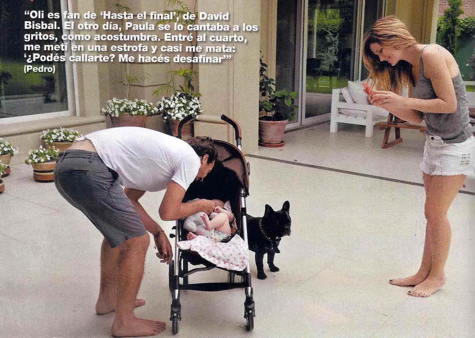 Paula y Pedro presentaron a Olivia en una tierna producción fotográfica