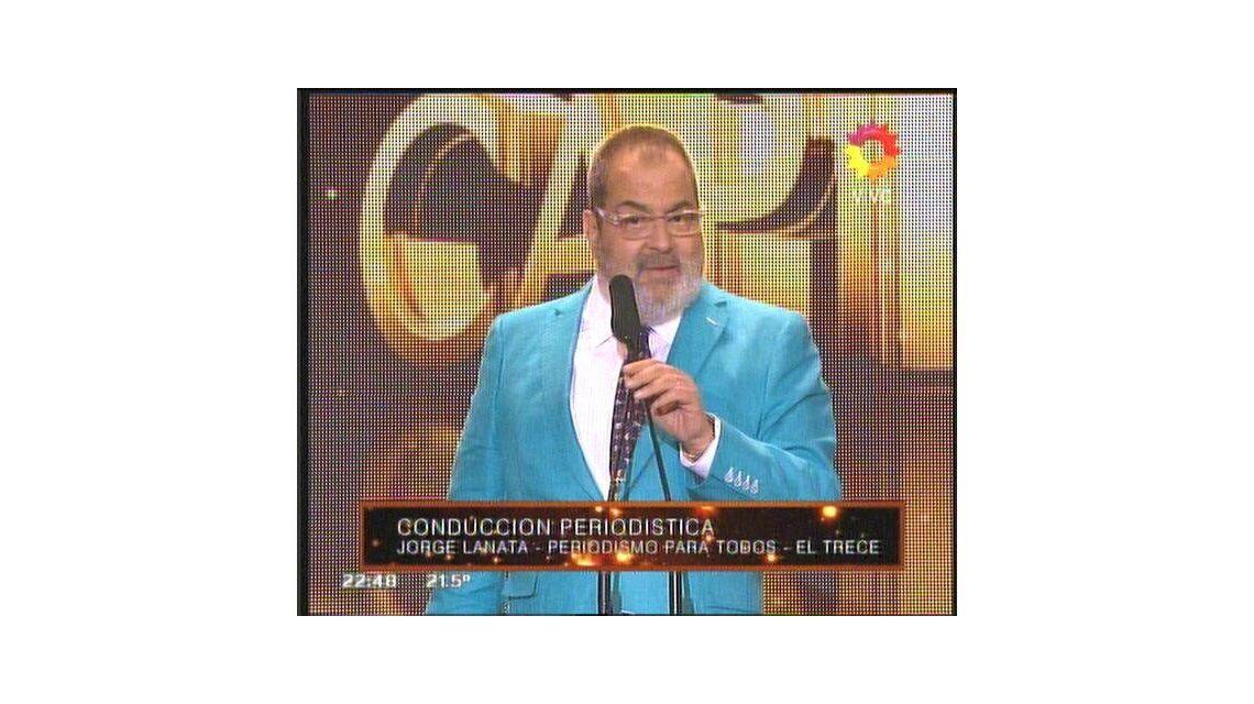 El discurso de Lanata en los Premios TATO contra Pablo Echarri y otros actores