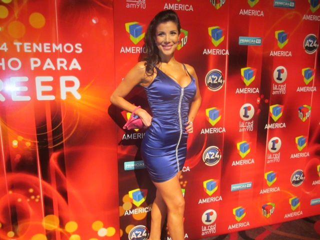 Andrea Rincón, tras su internación, reapareció en la fiesta de América