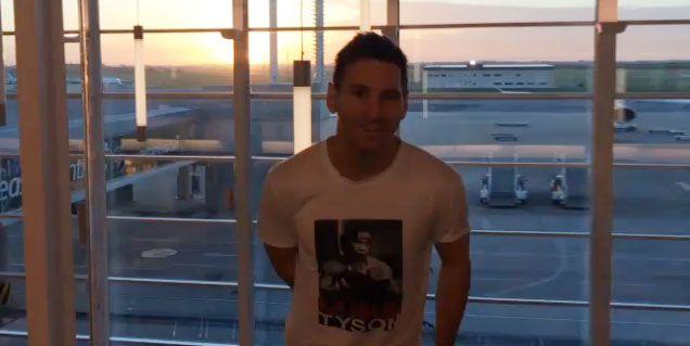 Lionel Messi llegó a Argentina con su familia