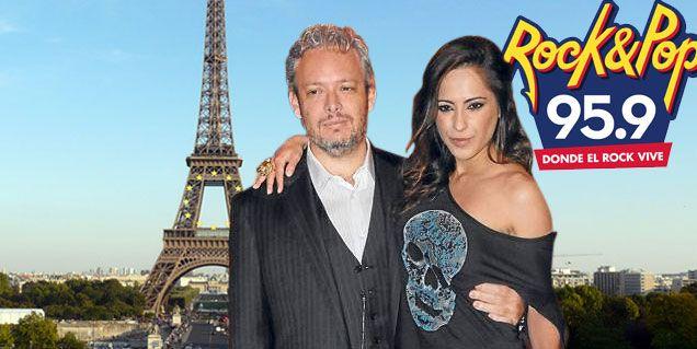 Garfunkel celebra que es el nuevo dueño de Rock and Pop junto a su mujer en Paris