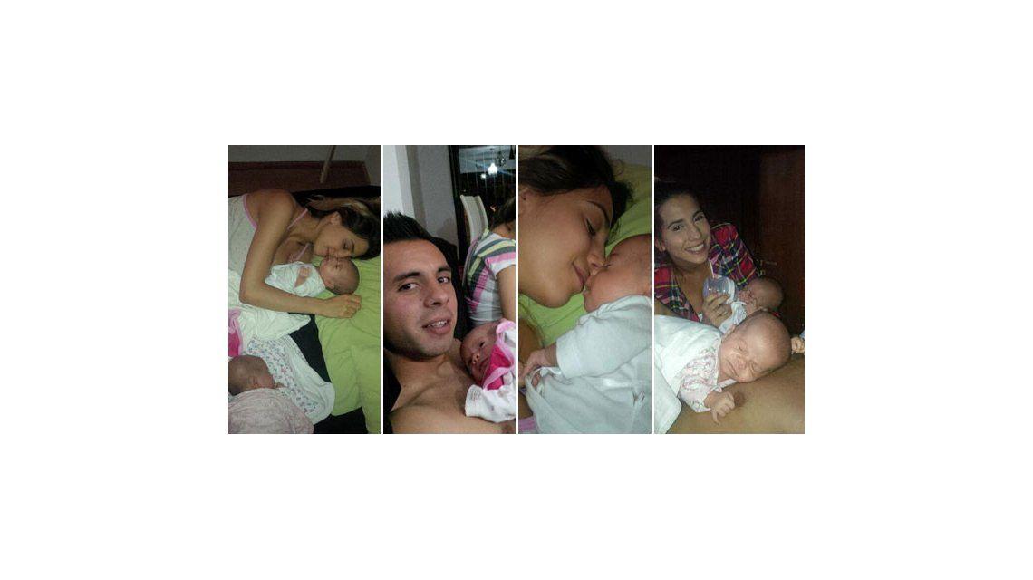 La vida de Cinthia Fernández y Matías Defederico como padres de mellizas