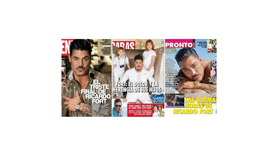La repentina muerte de Fort, tema excluyente en las revistas de esta semana