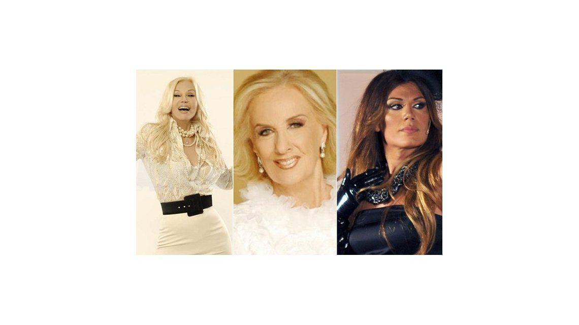 Tato: Mirtha, Susana y Florencia. algunas de la nominadas al último premio del 2013