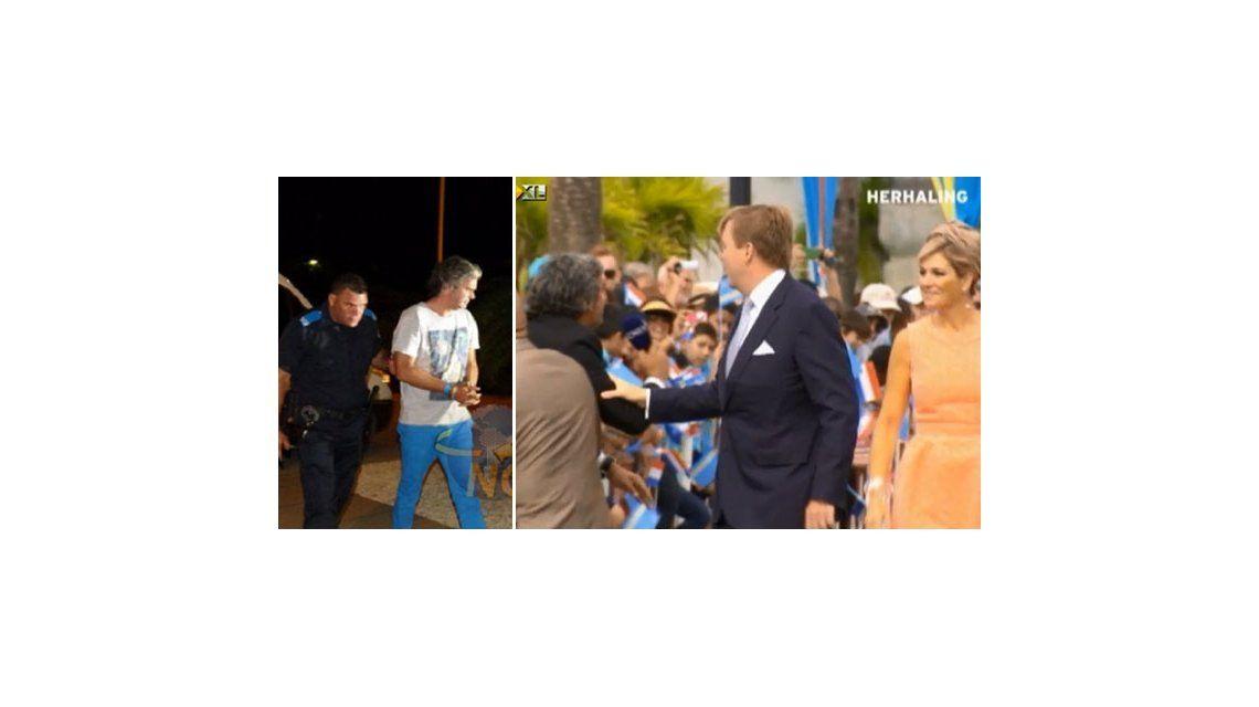 Detuvieron a Camilo García en Aruba por un incidente con la reina Máxima