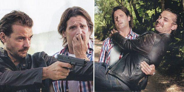 Listorti y Pedro filman una película: el pelucón del conductor está muy rebelde