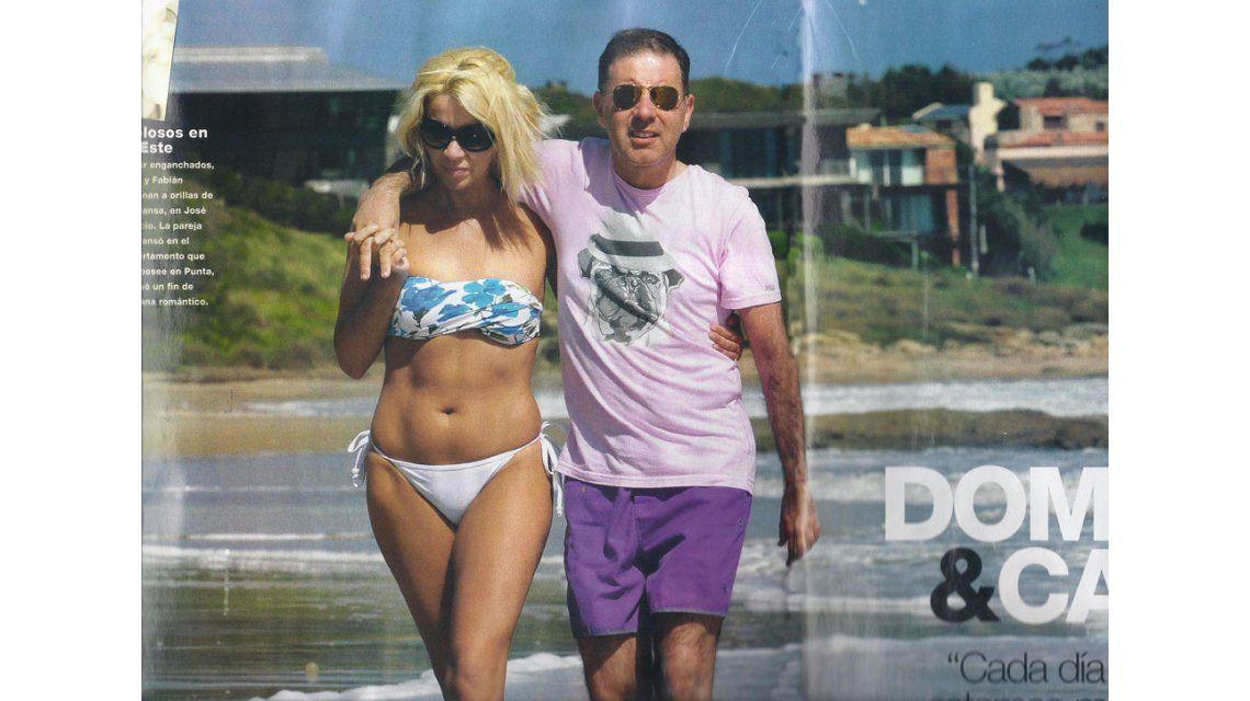 Punta del Este: Doman y su novia se tiran en la arena a hacer la porquería