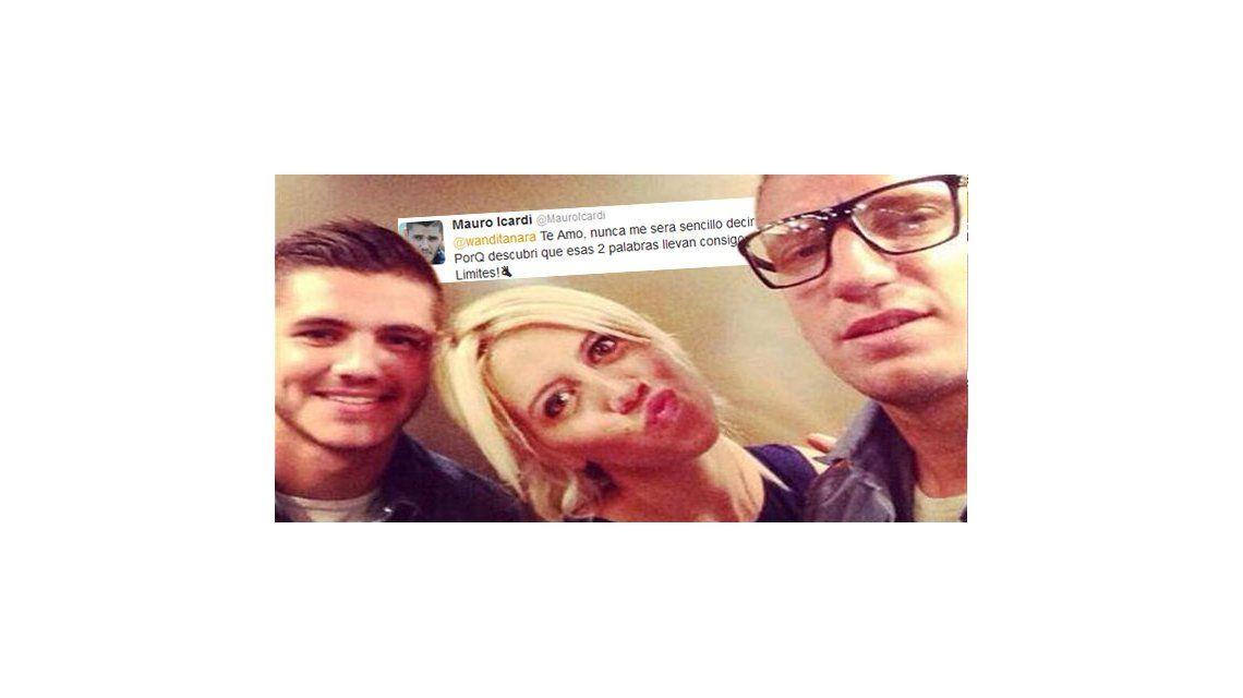 Mauro Icardi, el futbolista del caso Wanda-Maxi, se le declaró en Twitter: Te amo