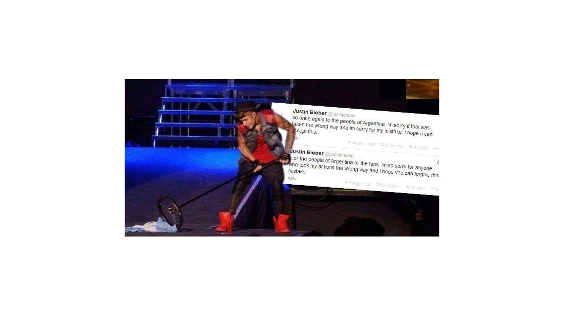 Luego del escándalo con la bandera, Justin Bieber pidió perdón: Nunca haría nada por faltar el respeto a Argentina