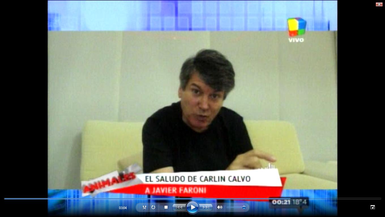 La vuelta de Carlín Calvo: reapareció en televisión en el programa de Fantino