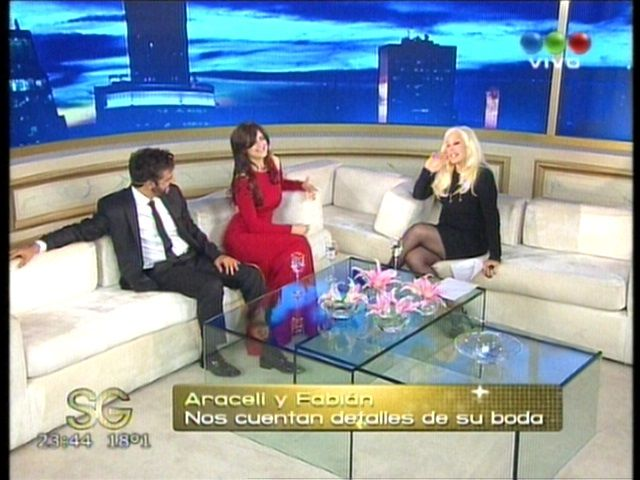 Araceli, antes de casarse con Fabián Mazzei: No descarto tener más hijos