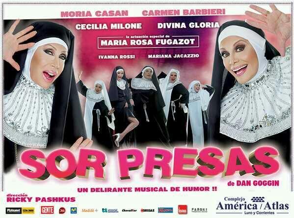 Esta es la marquesina de Sor Presas, el musical de Carmen y Moria en Mar del Plata