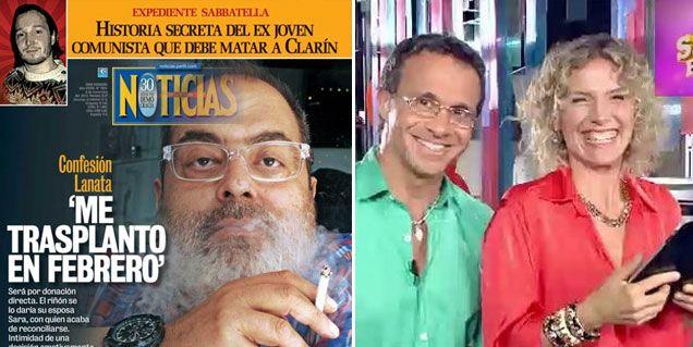 Lanata será trasplantado y mañana va al programa de Maru Botana y Lapegüe