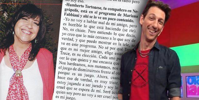 Vernaci: No sé por qué Tortonese elige estar en El Trece