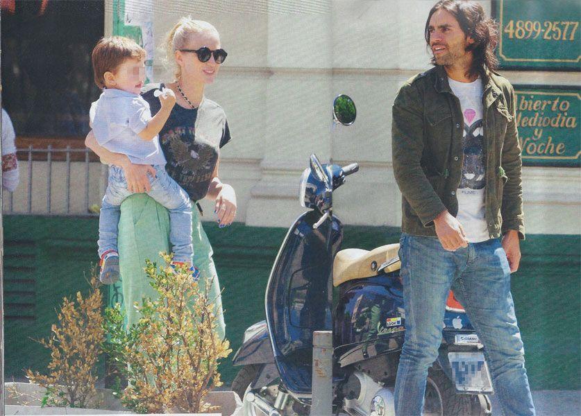Paseo y almuerzo familar: Gonzalo Heredia, Brenda Gandini y su hijo Eloy