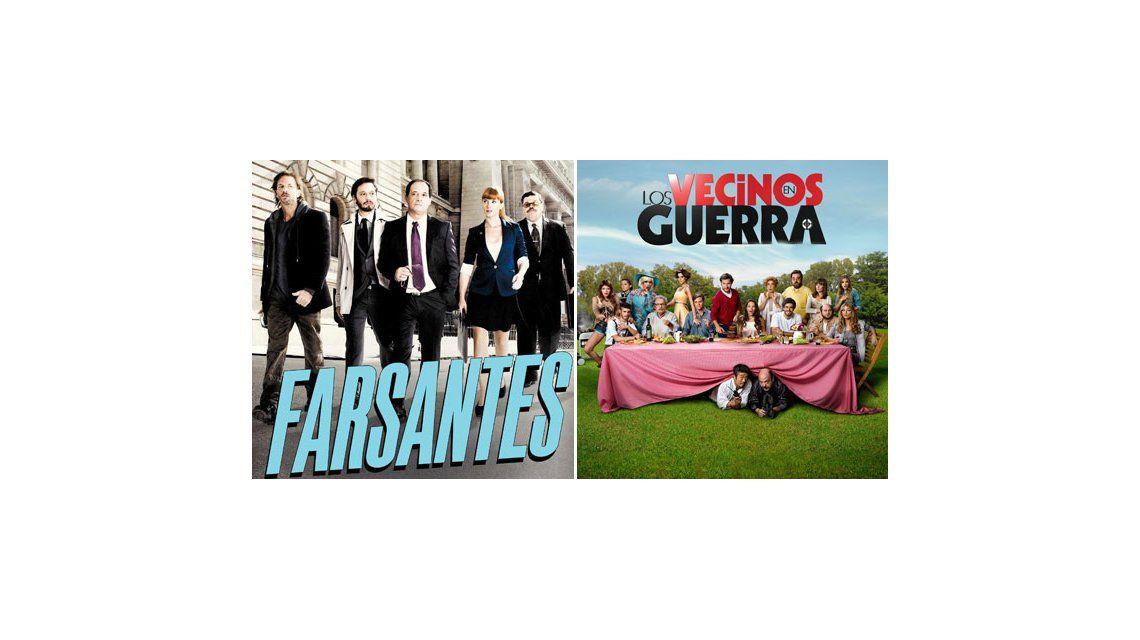 Los ratings de la noche del miércoles: Farsantes 13.4; Vecinos en guerra 12.8