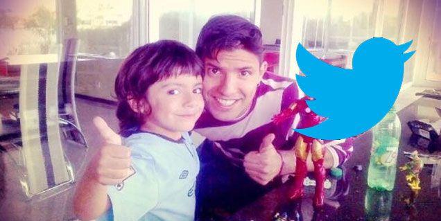 Desde Inglaterra y con su hijo Benjamín, el Kun Agüero rompió el silencio en Twitter