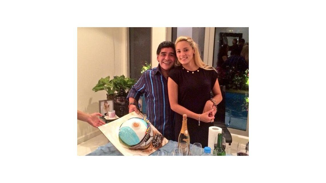 El festejo íntimo del cumpleaños de Diego Maradona en Dubai
