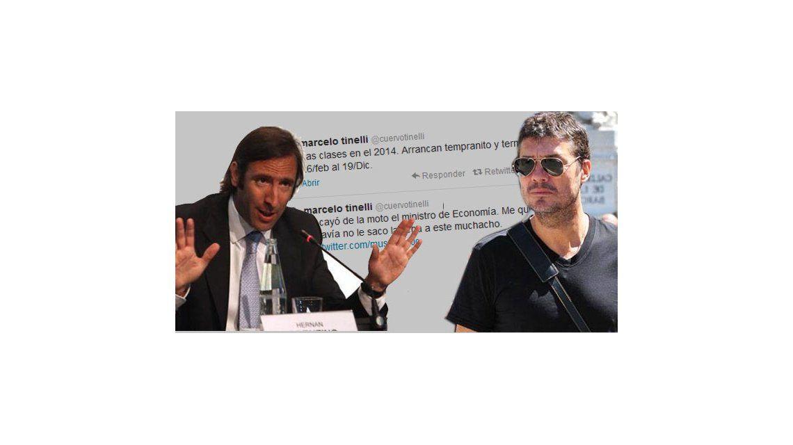 Tinelli, analista político en Twitter: gasta al ministro de Economía y se queja