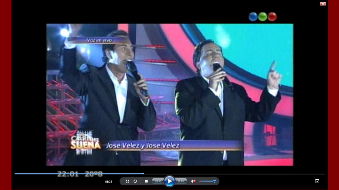 Tu cara me suena: José Vélez cantó a dúo con su doble, Jey Mammon