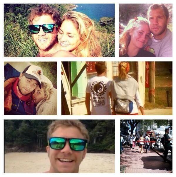 El álbum de fotos de Tacho Riera y Rocío Igarzábal en Brasil, enamoradísimos