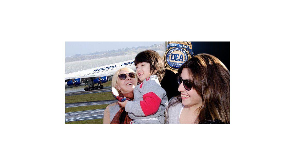 Gianinna, Benjamín y Claudia Villafañe en un vuelo peligroso desde Miami