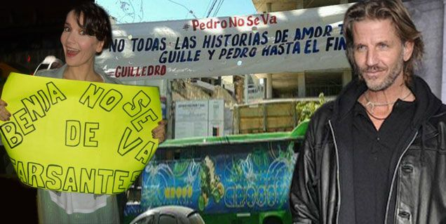 Oreiro y Arana apoyan la campaña para que Vicuña se quede en Farsantes
