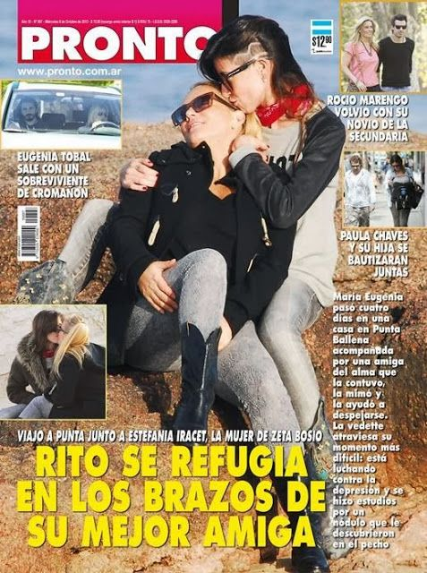 María Eugenia Ritó y su amiga, apasionadas en tapa de revista