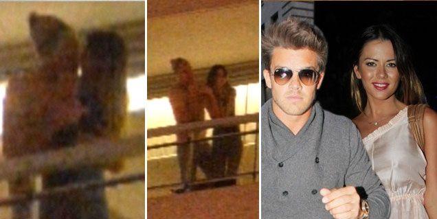 ¡Calientes! Karina Jelinek teniendo sexo en un balcón con Leandro Penna