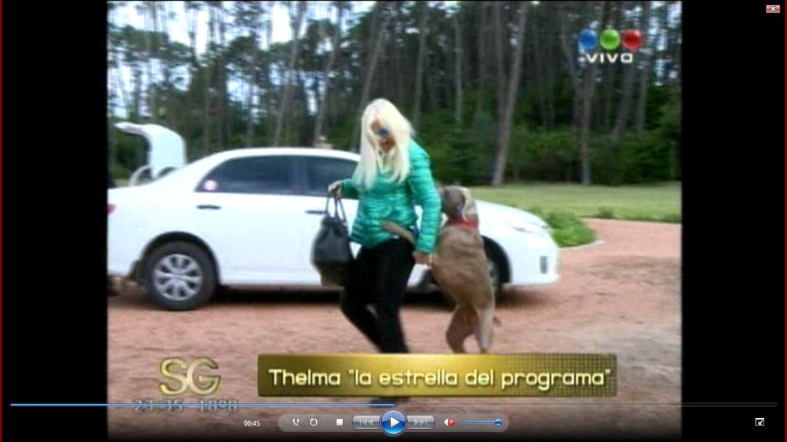 Susana y su perra Thelma; el ataque de amor de su mascota en Punta del Este