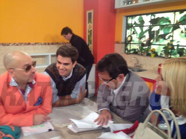 El backstage del ensayo de Los Grimaldi en canal 9: Nazarena y Gianola estrenan