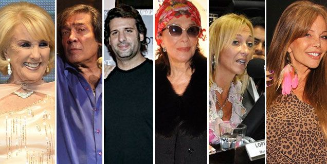 Mesa de Mirtha: Cacho, Listorti, Borges, y Mónica López; quieren a Alfano