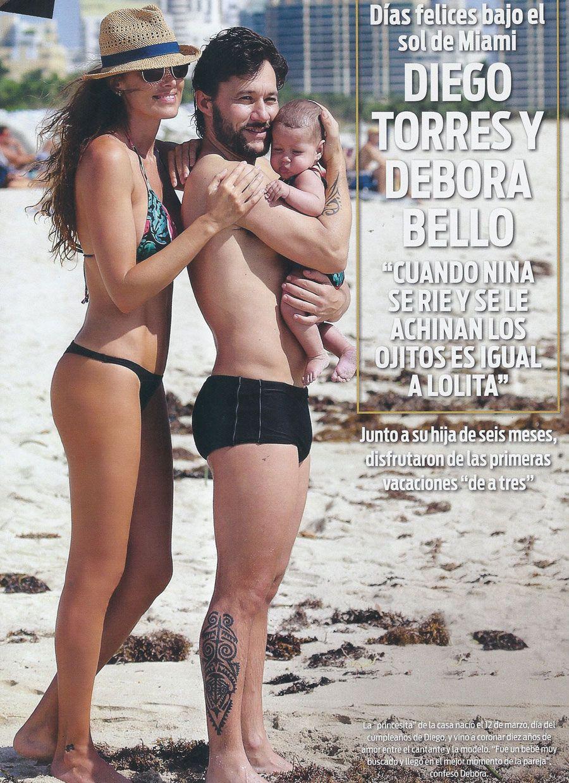 El álbum íntimo de Diego Torres y Débora Bello en Miami junto su hija Nina