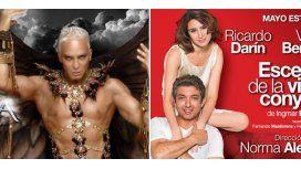 Éxito teatral: Flavio Mendoza, Ricardo Darín y Valeria Bertuccelli volvieron a liderar