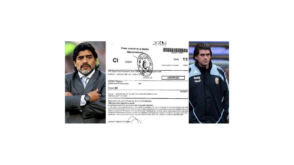 Avanza la causa de Maradona frente a Mancuso: el juez consideró que hubo delito