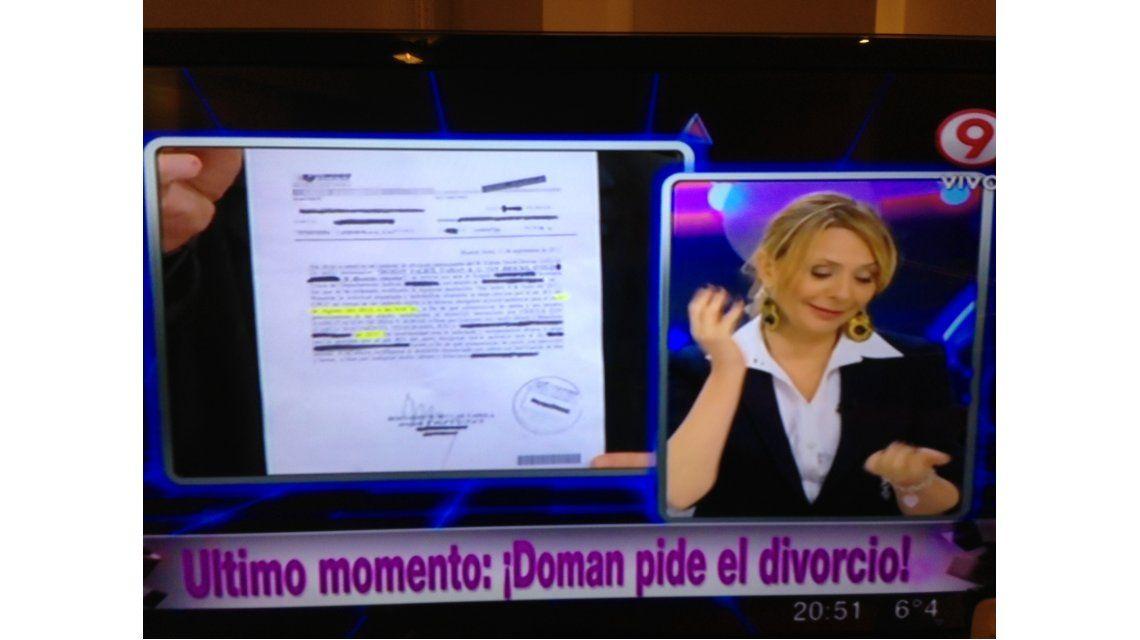 Fabián Doman le pide el divorcio a Evelyn Von Brocke y ella lo expone en televisión